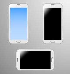 Realistic of a white smart phone vector image vector image