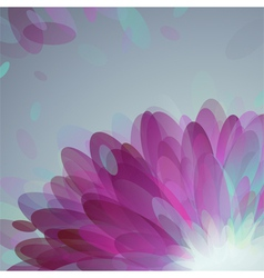 Abstract purple petals vector image vector image