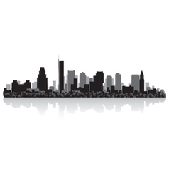 Boston USA city skyline silhouette vector image vector image