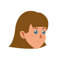 character face woman girl child vector image