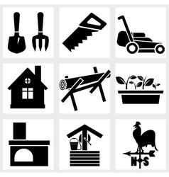 Garden icon vector image vector image