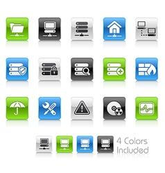 Network Server Clean Series vector image vector image