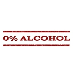 0 Percent Alcohol Watermark Stamp vector image