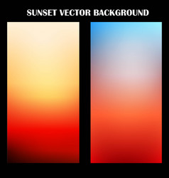Abstract colorful sunset background vector