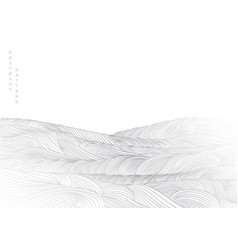 abstract landscape background with white and grey vector image