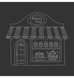 Bakery shop building vector