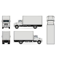 Box truck mockup vector