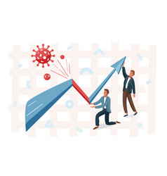 business graph representing stock market crash vector image