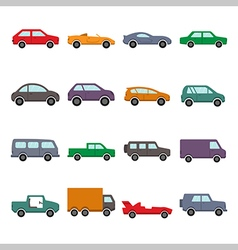Car collection icon vector image