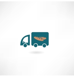 Car with bread icon vector
