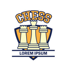 chess logo with text space for your slogan vector image