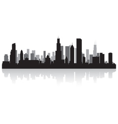 Chicago usa city skyline silhouette vector