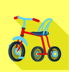 Child tricycle icon flat style vector