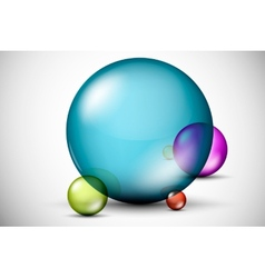 Colorful 3D glass balls vector