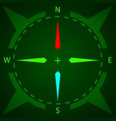 Compass display compass with illumination vector