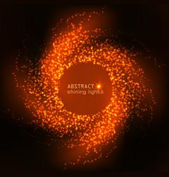 Cosmic shining orange background vector