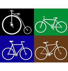 Different bikes vector