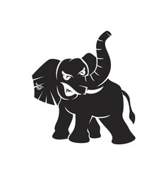 Elephant angry mascot template isolated vector