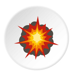 Fire explosion icon circle vector