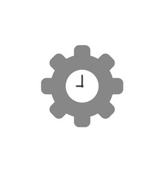 flat design concept of clock inside gear vector image