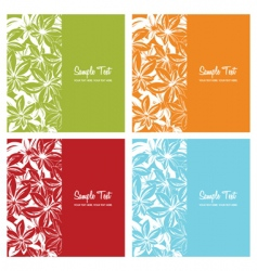 floral card backgrounds vector image vector image