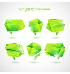 Geometrical Origami Template vector