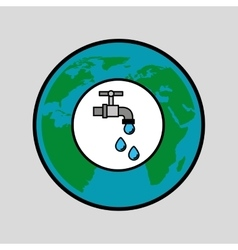 Globe world water eco environment concept design vector