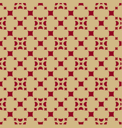 gold and red geometric seamless arabic pattern vector image