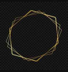 Gold luxury frame vector