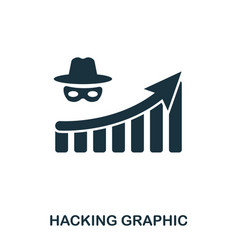Hacking increase graphic icon mobile apps vector