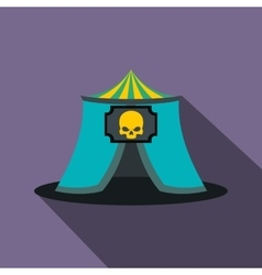 Haunted house flat icon vector