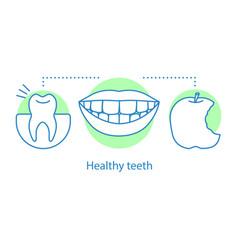 Healthy teeth concept icon vector