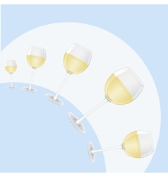 Hemisphere of glasses of wine vector