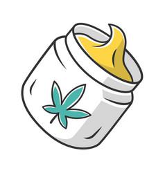 Hemp cream color icon cannabis cosmetic product vector