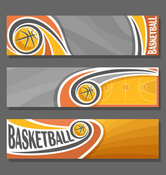 horizontal banners for basketball vector image