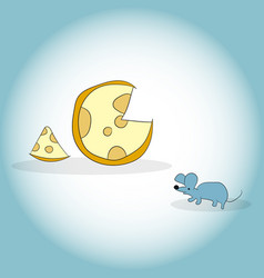 Image of mouse and cheese head vector