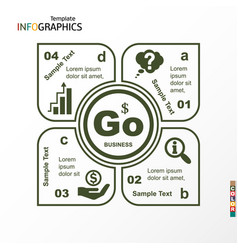 infographic geometric graph business vector image