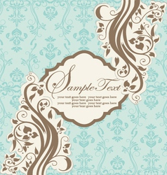 INVITATION CARD ON ABSTRACT FLORAL BACKGROUND vector