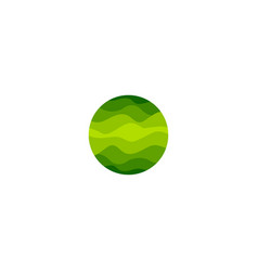 isolated abstract green color round shape logo of vector image