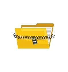 Isolated folder symbol vector image