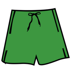 isolated man swimsuit vector image