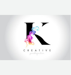 K vibrant creative leter logo design with vector