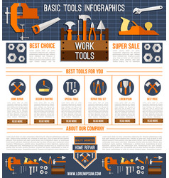 landing page template for repair work tools vector image