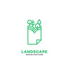 Landscape architecture logo vector