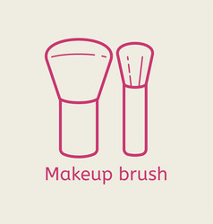 make up brush thin line icon vector image