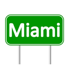 Miami green road sign vector