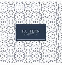 Minimal line flower pattern background design vector