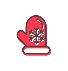 mitten christmas tradition vector image