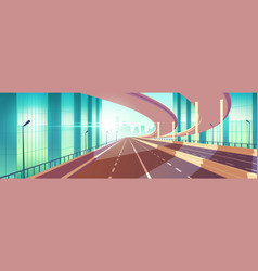 modern city empty freeway junction cartoon vector image