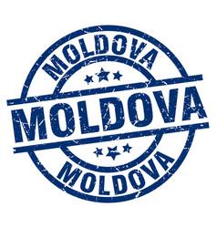 Moldova blue round grunge stamp vector